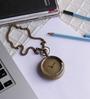 Anantaran Brown Brass Antique Pocket Watch Chain
