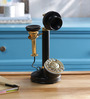 Anantaran Black Brass Replica Candlestick Table Telephone