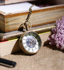 Anantaran Colorful Mechanical Brass Pocket Watch Chain