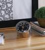 Anantaran Silver Steel Beautiful Table Clock