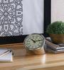Anantaran Silver Steel Vintage Table Clock