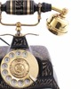 Anantaran Black Brass Antique Square Hand Carved Telephone