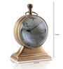 Anantaran Brown Brass Vintage Trophy Stand Table Clock Brown
