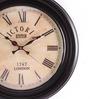 Anantaran Black Mdf Handicraft Wall Clock