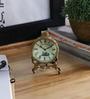 Anantaran Vintage Style Bead Work Brass Table Clock