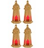Anasa Gold Metal Lantern Set of 4