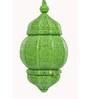 Anasa Green Metal Lantern