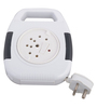 Anchor 5220 Cherry Flexicord White 7 x 8 x 4 Inch Extension Cords - Set of 2