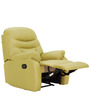 Ancona One Seater Recliner Chair in Olive Colour by Furnitech