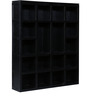 Oakland Solid Wood Book Shelf in Espresso Walnut Finish by Woodsworth