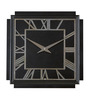 Anemos Black Mdf Art Deco Wall Clock