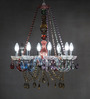 Anemos Chrome Stainless Steel & Glass Chandelier