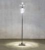 Anemos Clear Glass & Metal Floor Lamp