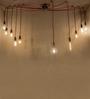 Anemos Red 10 Bulb Glass Pendant Light