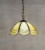 Anemos Yellow Metal & Glass Pendant