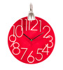 Anemos Red Acrylic 12 x 17 Inch Wall Clock