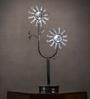 Anemos Chrome Plated Crystal Bead Table Lamp
