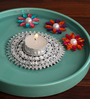 Anisha Creatives Multicolour Metal Floating Candle Stand