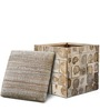 Anna Box Pouffe in Brown Colour by InLiving