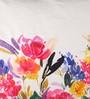 Anna Simona Multicolour Cotton 16 x 16 Inch Floral Printed with Fine Bead Work Cushion Cover