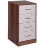Anne Chest of Four Drawers in White & Maple Finish by Evok