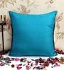 ANS Blue Poly Silk 16 x 16 Inch Cushion Cover