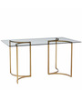 Anton Six Seater Dining Table in Golden Colour by Asian Arts
