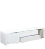 Antonious High Gloss Entertainment Unit in White Finish by HomeTown