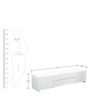 Antonious High Gloss TV Unit in White Finish by HomeTown