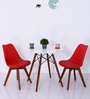 Anzu Accent DSW Eames Replica Chair (Set of 2) in Red Colour by Mintwud