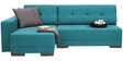 Apollo RHS Sectional Sofa with Left Side Chaise in Blue Colour by Furny