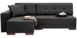 Apollo RHS Sectional Sofa with Chaise in Black Colour by Furny
