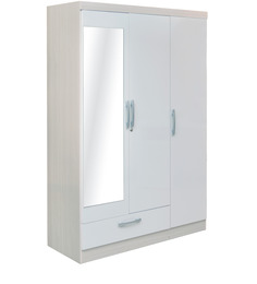 Apollo High Gloss Three Door Wardrobe With Mirror by HomeTown