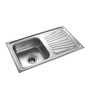 Apollo Stainless Steel Single Bowl Kitchen Sink with Drainer - AS27