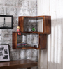 Recife Contemporary Wall Shelf in Brown by CasaCraft