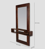 Iuceph Decorative Mirror in Brown by CasaCraft