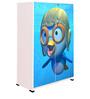 Aqua Duck Kids Wardrobe in Multi Colour by BigSmile Furniture