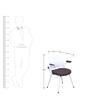 Aqua Chair in White Brown  colour by @home