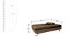 Ariana Soft Sofa cum Bed in Brown Colour by Furny