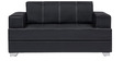 Arizona Two Seater Sofa in Black Colour by Home Art Creations