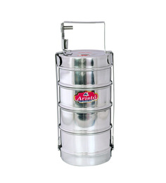 Aristo Lunch Box 4 Stainless Steel Containers Tiffin Set