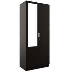 Arko Two Door Wardrobe in Wenge Finish by Spacewood