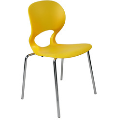 Armless Cafetaria Chair in Yellow Colour by Ventura