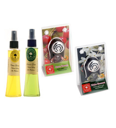 Aromatree Citrus Lemon & Jasmine Absolute Natural Spray with Cherry Blossom & White Blossom Car Perfume