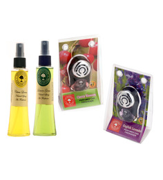 Aromatree Citrus Lemon & Lemon Grass Natural Spray with Cherry Blossom & English Lavender Car Perfume
