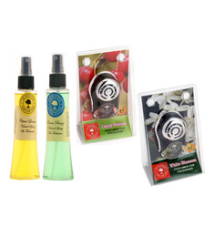 Aromatree Citrus Lemon & Ocean Breeze Natural Spray with Cherry Blossom & White Blossom Car Perfume