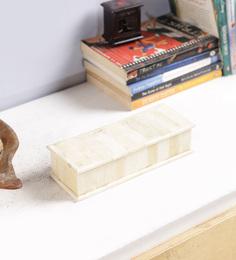 Art Of Jodhpur White Solid Wood  Vintage Collectible Sandook