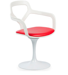 Art Pop Accent Chair in White Colour by HomeHQ