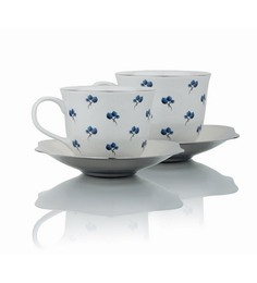 Arttdinox 180 ML Ceramic Cups & Saucers - Set of 2