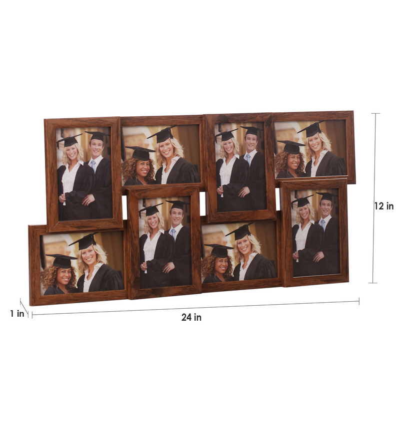 buy artista brown wooden 12 x 24 inch collage photo frame online collage picture frames sets. Black Bedroom Furniture Sets. Home Design Ideas